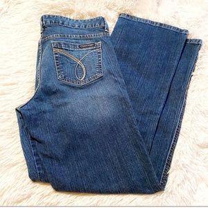 Calvin Klein DK Wash Ultimate Bootcut Jeans Sz 12